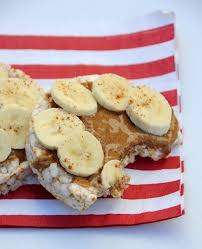 rice cake with banana